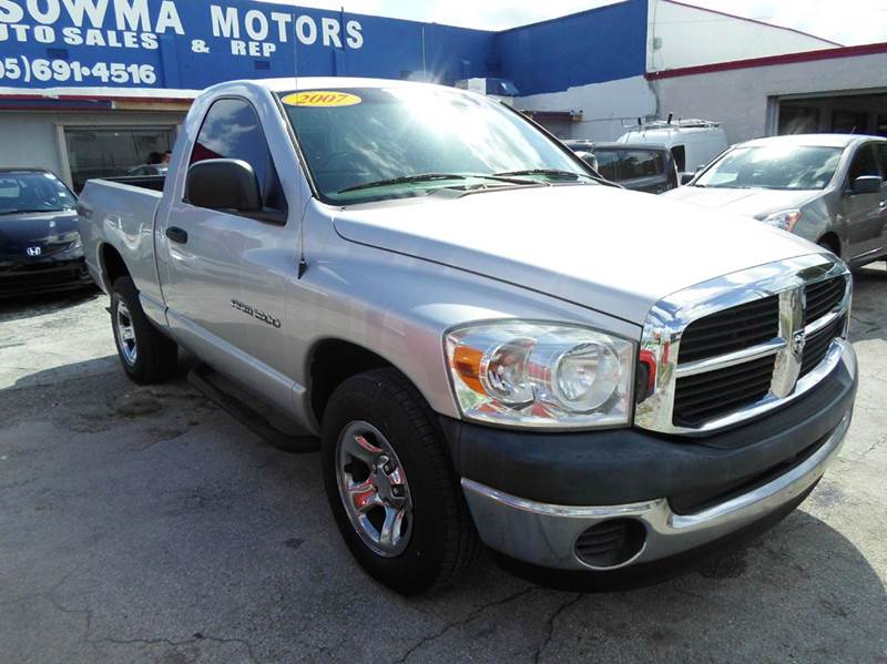 2007 dodge ram pickup 1500 st 2dr regular cab lb in miami fl sowma motors inc. Black Bedroom Furniture Sets. Home Design Ideas