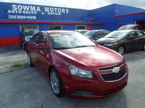 2012 Chevrolet Cruze for sale in Miami, FL