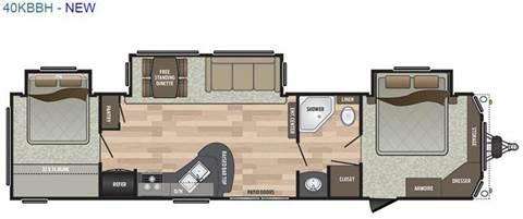 2018 Keystone Residence 40KBBH