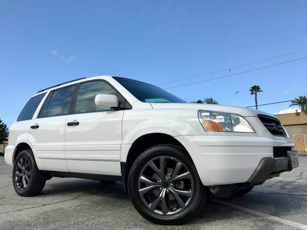 2004 HONDA PILOT EX-L 4DR 4WD SUV WLEATHER AND N white all 4 brand new tires with rims all servi