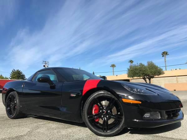 2008 CHEVROLET CORVETTE WITH 18K MILES black we finance  good credit  bad credit