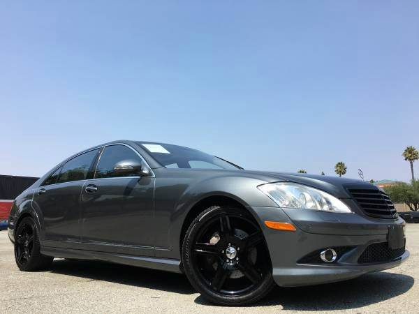 2008 MERCEDES-BENZ S-CLASS S550 AMG FULLY LOADED gray 2-stage unlocking doors abs - 4-wheel act