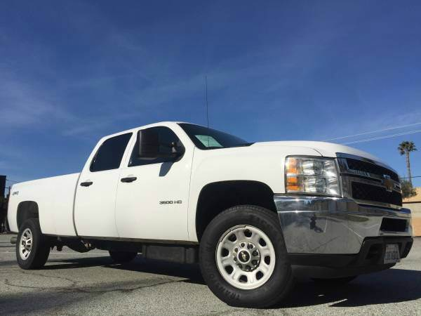 2012 CHEVROLET SILVERADO 3500HD HD 2500 4X4 LIFTED DMAX DIESEL white 4wd selector - manual hi-lo