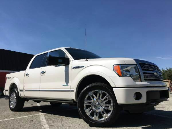 2011 FORD F-150 PLATINUM 4X4 4DR SUPERCREW STYLE pearl white 2-stage unlocking doors 4wd selector