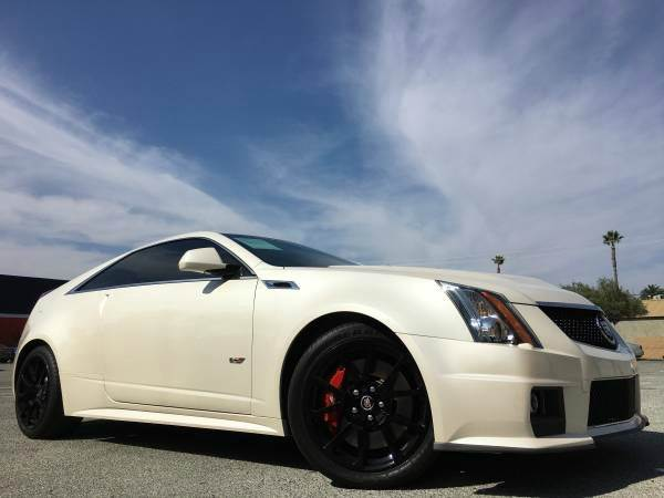 2011 CADILLAC CTS-V SPORTW RECARO SEAT pearl white we finance  good credit  bad credit