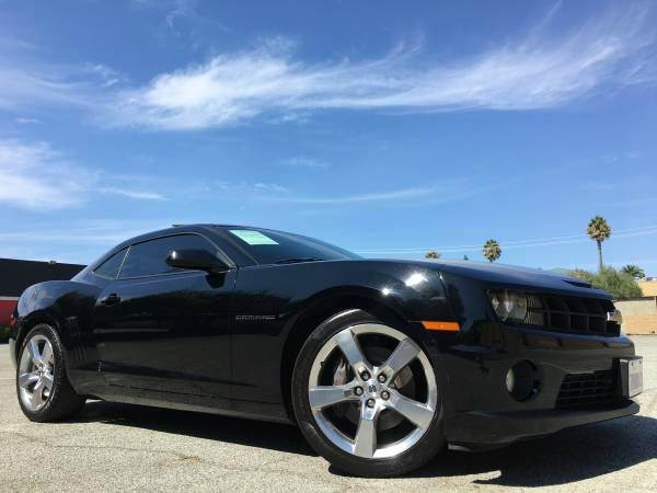 2010 CHEVROLET CAMARO SS 2DR COUPE W2SS RS PKG black abs - 4-wheel air filtration airbag deact