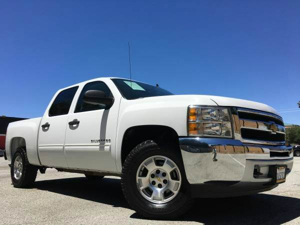 2012 CHEVROLET SILVERADO 1500 LT 4X4 4DR CREW CAB white 4wd selector - electronic hi-lo 4wd type