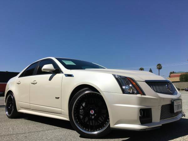 2011 CADILLAC CTS-V SPORTRECARO SEAT pearl white 2-stage unlocking doors abs - 4-wheel active