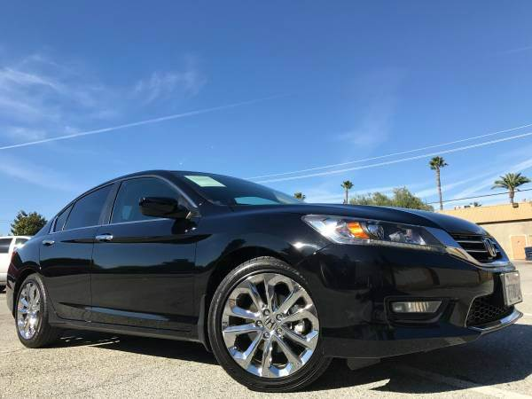 2015 HONDA ACCORD SPORT 4DR SEDAN 6 SPPED black 2-stage unlocking doors abs - 4-wheel active hea
