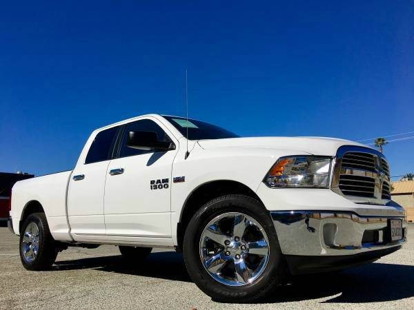 2016 DODGE RAM PICKUP 1500 BIG HORN 4X4 4DR QUAD CAB 63 FT white 2-stage unlocking doors 4wd se