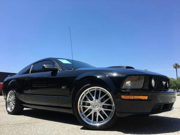 2007 FORD MUSTANG GT PREMIUM 2DR COUPE black abs - 4-wheel airbag deactivation - occupant sensin