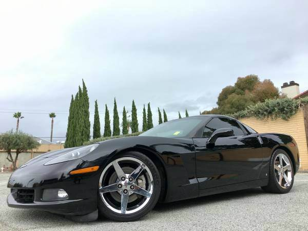 2006 CHEVROLET CORVETTE BASE 2DR COUPE black abs - 4-wheel active suspension air filtration ai