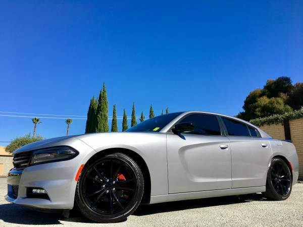 2016 DODGE CHARGER SXT W 9K MILES ONLY gray we finance  good credit  bad credit  no