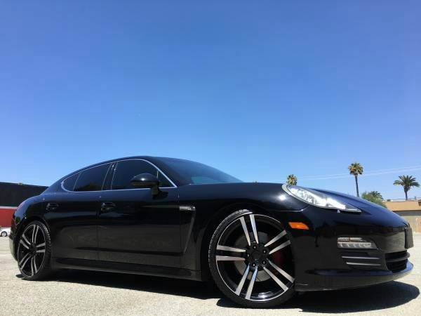 2010 PORSCHE PANAMERA 4S SPORT PKG WTURBO WHEELS black 2-stage unlocking doors 4wd type - full