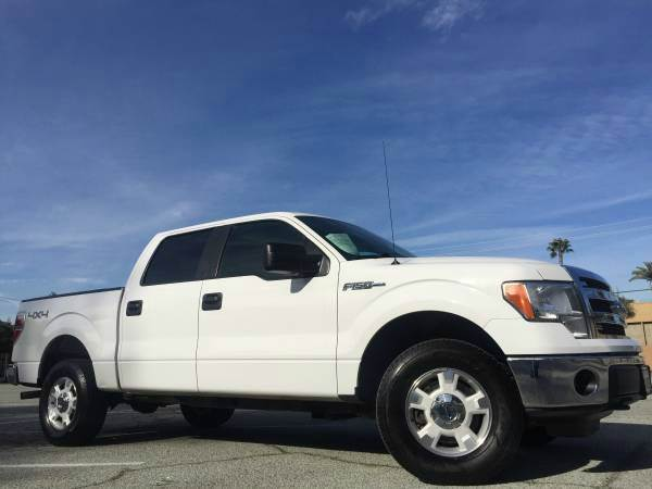 2013 FORD F-150 XLT 4X4 4DR SUPERCREW white 2-stage unlocking doors 4wd selector - electronic hi