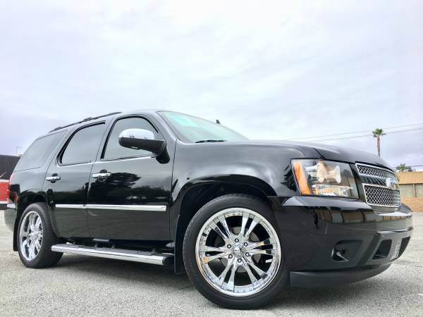 2008 CHEVROLET TAHOE LTZ 4X2  SUV black abs - 4-wheel active suspension adjustable pedals - pow