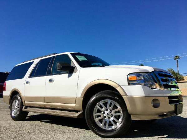 2012 FORD EXPEDITION EL XLT 4X4 4DR SUV white 2-stage unlocking doors 4wd selector - electronic h