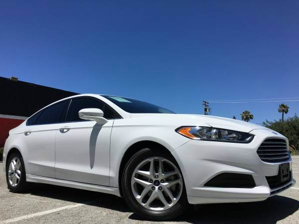 2015 FORD FUSION SE 4DR SEDAN white 2-stage unlocking doors abs - 4-wheel air filtration airbag