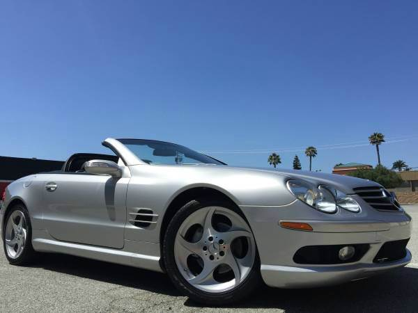 2004 MERCEDES-BENZ SL-CLASS SL500 2DR CONVERTIBLE silver abs - 4-wheel anti-theft system - alarm