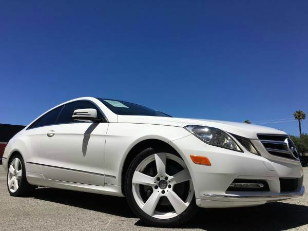 2013 MERCEDES-BENZ E-CLASS E350 2DR COUPE pearl white 2-stage unlocking doors abs - 4-wheel acti