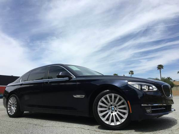 2013 BMW 7 SERIES 750LI 4DR SEDAN dark blue 2-stage unlocking doors abs - 4-wheel active head re