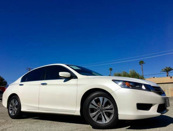 2014 HONDA ACCORD LX  SEDAN CVT white 2-stage unlocking doors abs - 4-wheel active head restrain