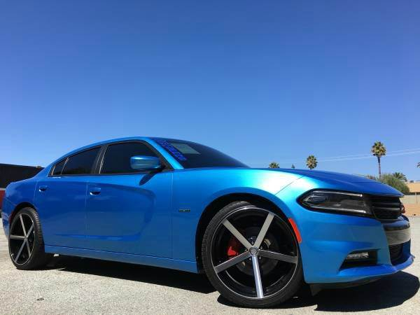 2015 DODGE CHARGER RT ROAD AND TRACK 4DR SEDAN blue 2-stage unlocking doors abs - 4-wheel acti
