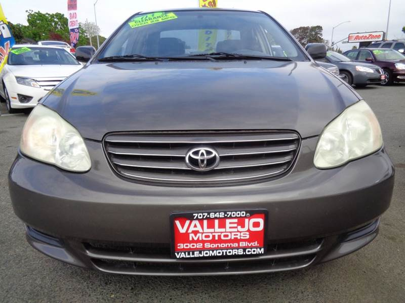2003 Toyota Corolla Le 4dr Sedan In Vallejo Ca Vallejo