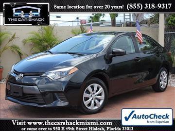 2015 Toyota Corolla for sale in Hialeah, FL