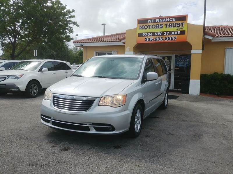 2012 CHRYSLER TOWN AND COUNTRY TOURING 4DR MINI VAN silver abs - 4-wheel active head restraints