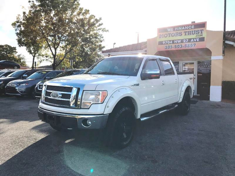 2009 FORD F-150 PLATINUM 4X4 4DR SUPERCREW STYLE white 2-stage unlocking doors 4wd selector - ele