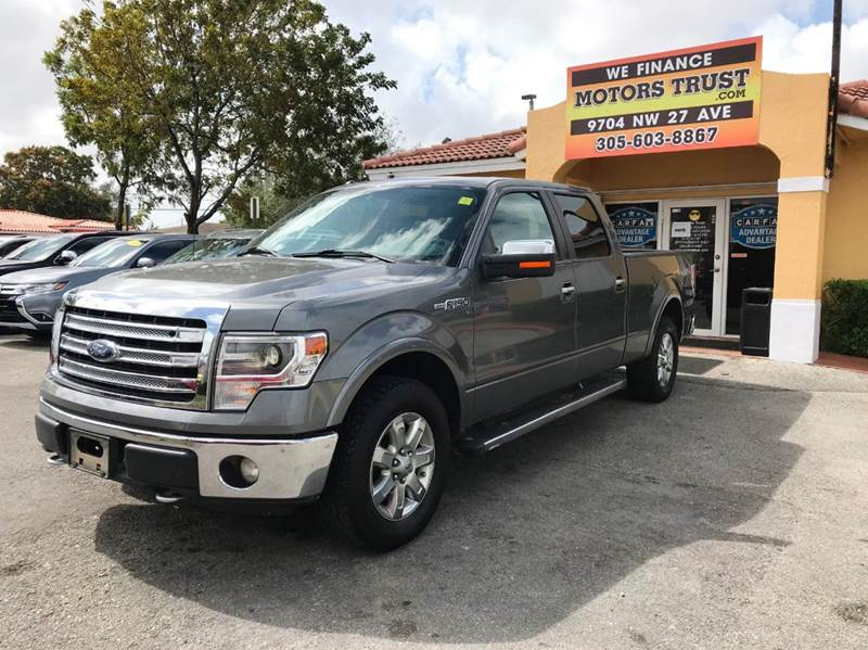 2013 FORD F-150 LARIAT 4X4 4DR SUPERCREW STYLESI gray 2-stage unlocking doors 4wd selector - elec