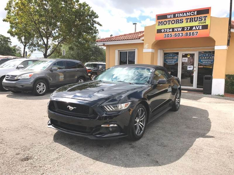2017 FORD MUSTANG ECOBOOST PREMIUM 2DR CONVERTIBLE black 2-stage unlocking doors abs - 4-wheel a