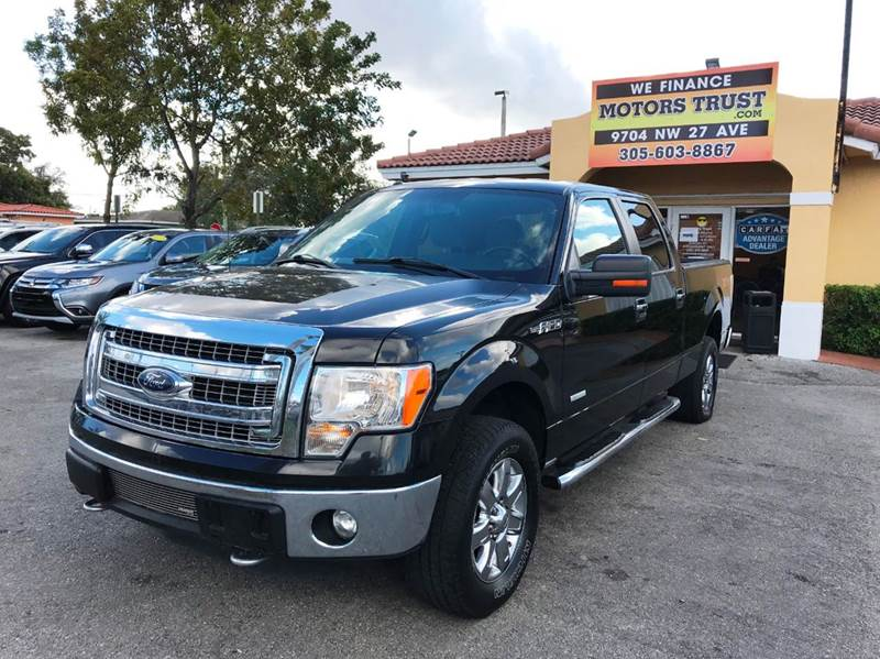 2013 FORD F-150 XLT 4X4 4DR SUPERCREW STYLESIDE black 2-stage unlocking doors 4wd selector - ele