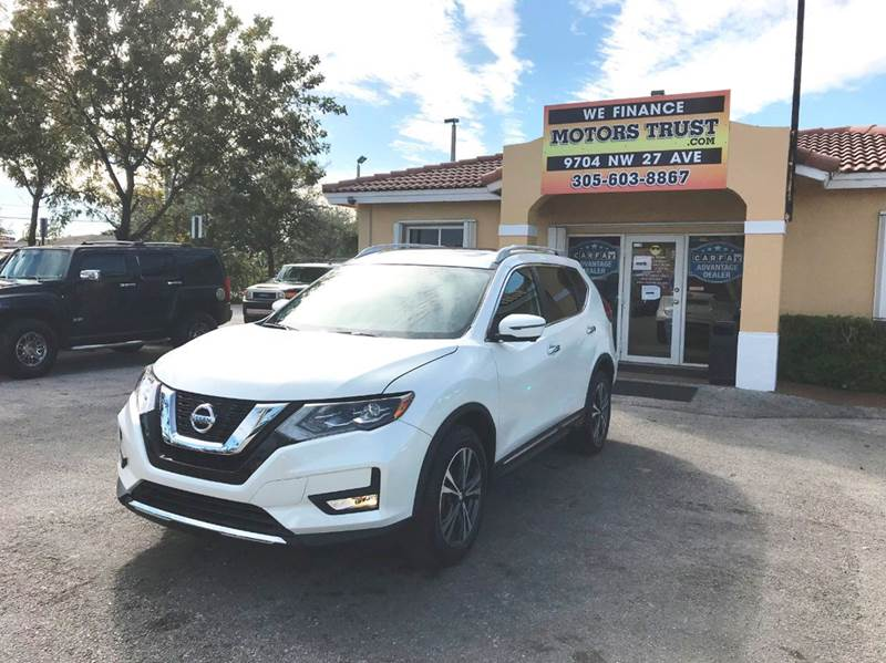 2017 NISSAN ROGUE SL AWD 4DR CROSSOVER white 2-stage unlocking doors 4wd type - on demand abs -
