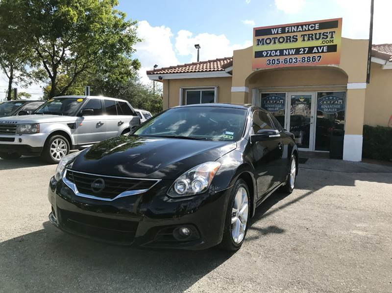 2012 NISSAN ALTIMA 35 SR 2DR COUPE CVT black 2012 nissan altima sr coupe fully loaded navigation