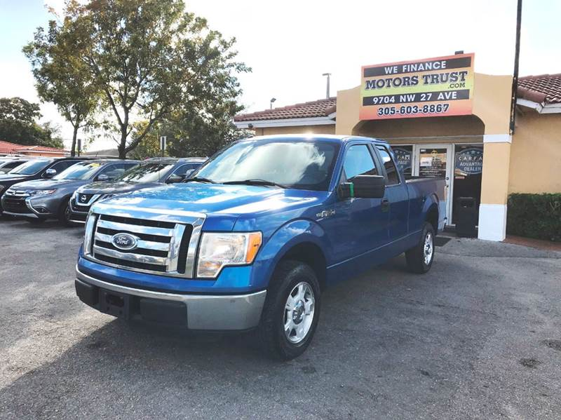 2011 FORD F-150 XLT 4X2 4DR SUPERCAB STYLESIDE 6 blue 2-stage unlocking doors abs - 4-wheel air