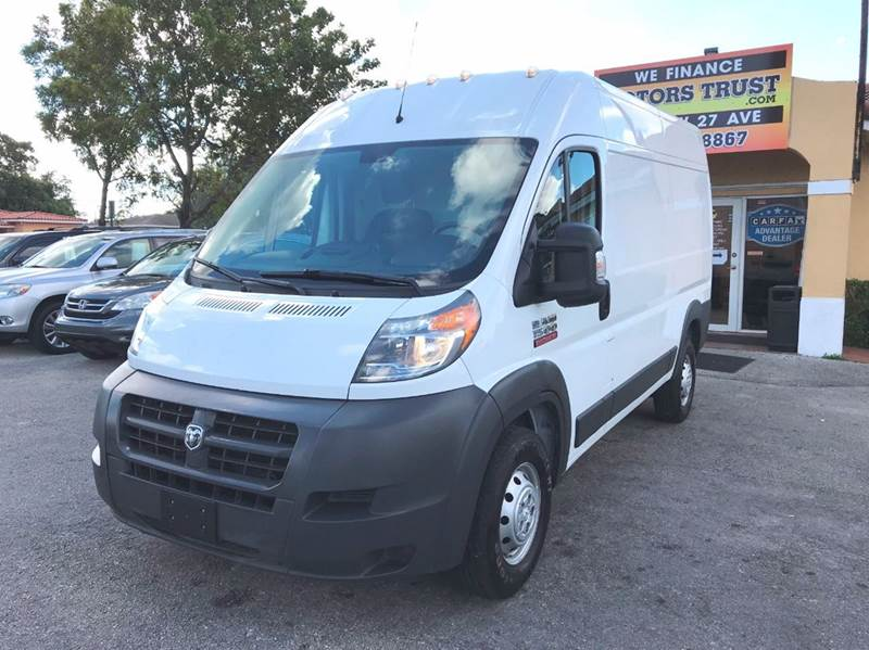 2015 RAM PROMASTER CARGO 1500 136 WB 3DR HIGH ROOF CARGO white 2-stage unlocking doors abs - 4-w