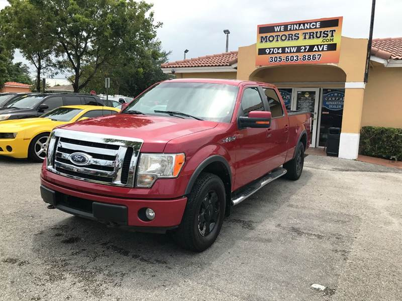 2010 FORD F-150 LARIAT 4X4 4DR SUPERCREW STYLESI red 2010 ford f150 crew cab lariat  clean carfax