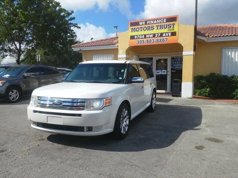 2009 FORD FLEX LIMITED CROSSOVER 4DR pearl white abs - 4-wheel adjustable pedals - power airbag