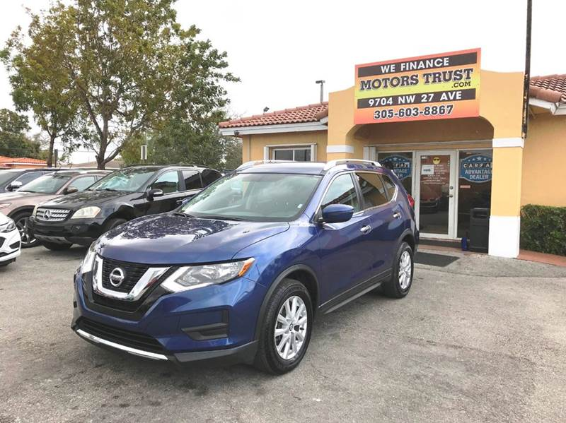 2017 NISSAN ROGUE SV 4DR CROSSOVER blue 2-stage unlocking doors abs - 4-wheel air filtration ai