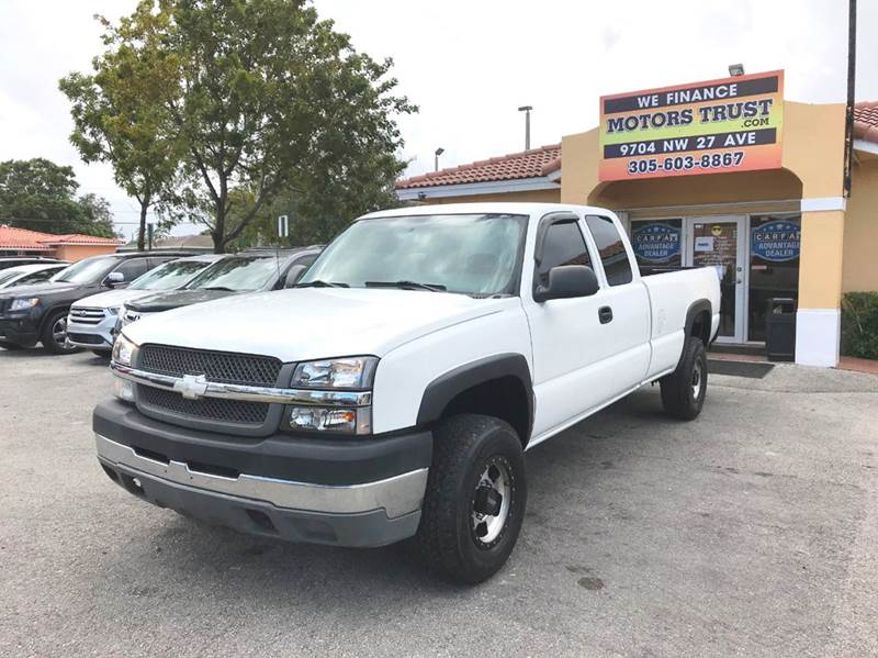2004 CHEVROLET SILVERADO 2500HD LS 4DR EXTENDED CAB RWD LB white abs - 4-wheel anti-theft system