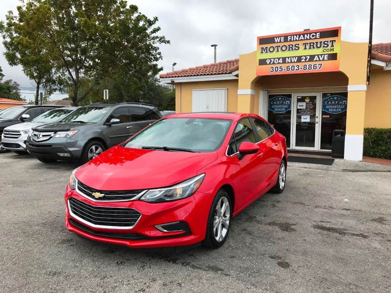 2017 CHEVROLET CRUZE PREMIER AUTO 4DR SEDAN red 2-stage unlocking doors abs - 4-wheel air filtra