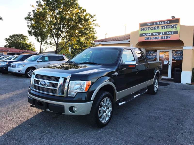 2010 FORD F-150 KING RANCH 4X4 4DR SUPERCREW STY black 2-stage unlocking doors 4wd selector - ele