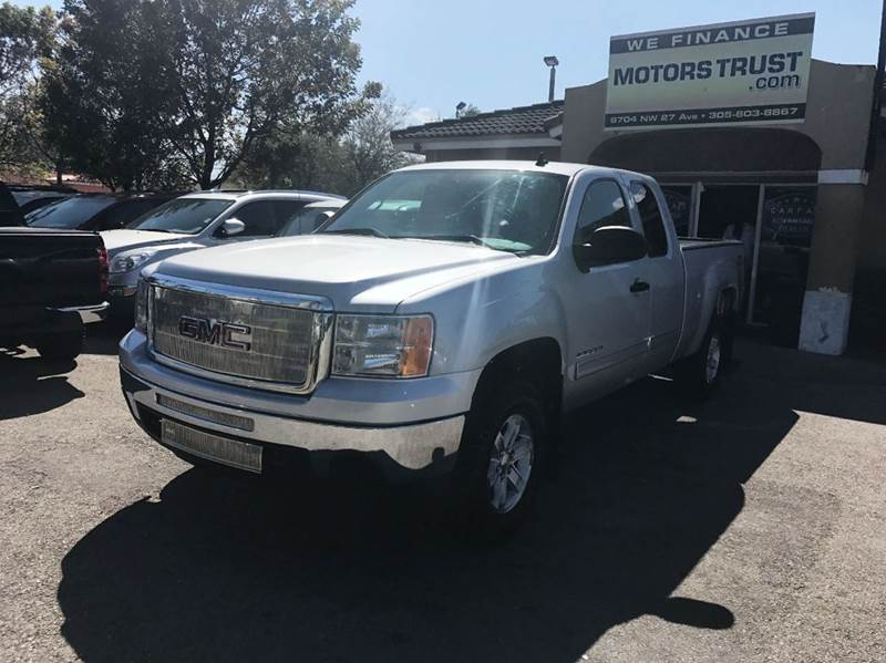 2012 GMC SIERRA 1500 SLE 4X4 4DR EXTENDED CAB 65 FT gray 4wd selector - electronic hi-lo 4wd t