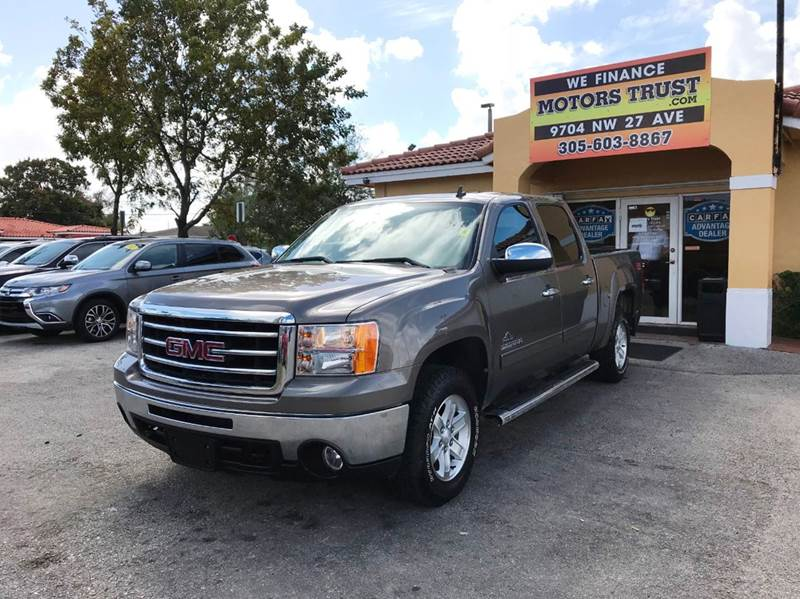 2013 GMC SIERRA 1500 SLE 4X4 4DR CREW CAB 58 FT SB brown 4wd selector - electronic hi-lo 4wd t