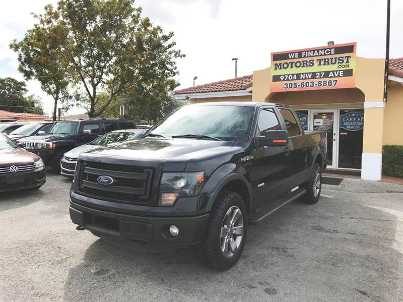 2013 FORD F-150 FX4 4X4 4DR SUPERCREW STYLESIDE black 2-stage unlocking doors 4wd selector - elec