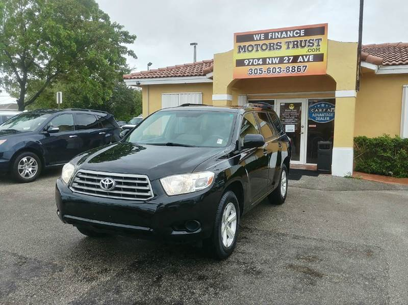 2008 TOYOTA HIGHLANDER BASE 4DR SUV black abs - 4-wheel active head restraints - dual front air