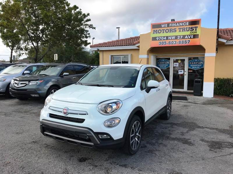2016 FIAT 500X TREKKING PLUS AWD 4DR CROSSOVER white 2-stage unlocking doors 4wd type - on demand