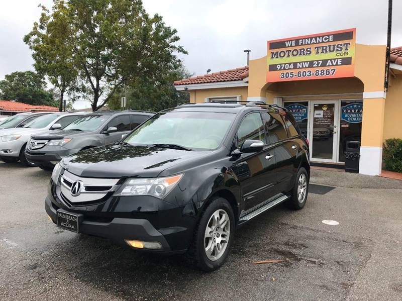 2008 ACURA MDX SH AWD WTECH 4DR SUV WTECHNOLO black 2-stage unlocking doors 4wd type - full tim
